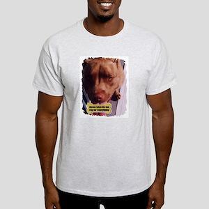 ALWAYS TAKES THE BAD RAP  Ash Grey T-Shirt