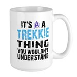 Trekkie Thing Blue Large Mug