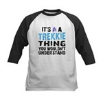 Trekkie Thing Blue Kids Baseball Jersey