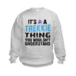 Trekkie Thing Blue Kids Sweatshirt