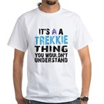Trekkie Thing Blue White T-Shirt