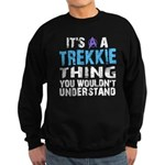 Trekkie Thing Blue Sweatshirt (dark)