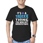 Trekkie Thing Blue Men's Fitted T-Shirt (dark)