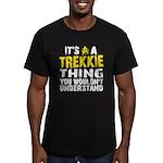 Trekkie Thing Men's Fitted T-Shirt (dark)