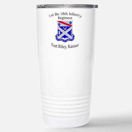 1st Bn 18th Infantry Stainless Steel Travel Mug
