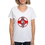 Kyokushin kanku Women's V-Neck T-Shirt