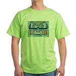 Folk Art Mask Green T-Shirt