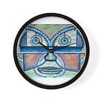Folk Art Mask Wall Clock