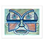 Folk Art Mask Small Poster