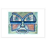 Folk Art Mask Large Poster
