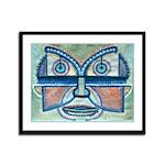 Folk Art Mask Framed Panel Print