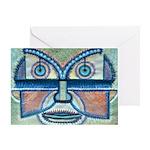 Folk Art Mask Greeting Card