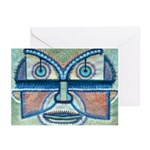 Folk Art Mask Greeting Cards (Pk of 10)