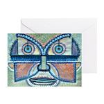 Folk Art Mask Greeting Cards (Pk of 20)