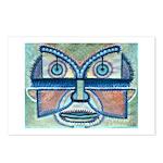 Folk Art Mask Postcards (Package of 8)