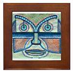 Folk Art Mask Framed Tile