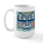 Folk Art Mask Large Mug