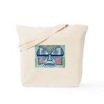 Folk Art Mask Tote Bag