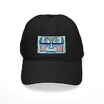Folk Art Mask Black Cap