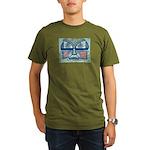 Folk Art Mask Organic Men's T-Shirt (dark)