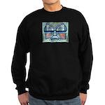Folk Art Mask Sweatshirt (dark)