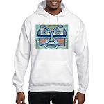 Folk Art Mask Hooded Sweatshirt