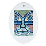 Folk Art Mask Ornament (Oval)