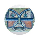 Folk Art Mask Ornament (Round)