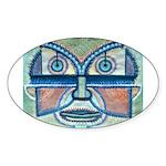 Folk Art Mask Sticker (Oval)