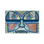 Folk Art Mask Rectangle Magnet