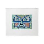 Folk Art Mask Throw Blanket