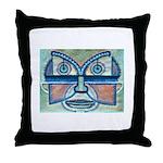 Folk Art Mask Throw Pillow