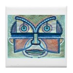 Folk Art Mask Tile Coaster
