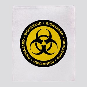 Yellow & Black Biohazard Throw Blanket