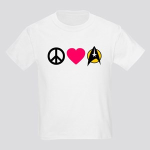 Peace Love Trek Kids Light T-Shirt