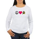 Peace Love Trek Women's Long Sleeve T-Shirt