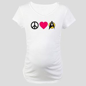 Peace Love Trek Maternity T-Shirt