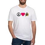 Peace Love Trek Fitted T-Shirt