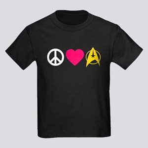 Peace Love Trek Kids Dark T-Shirt