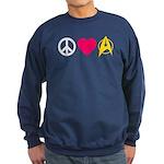 Peace Love Trek Sweatshirt (dark)