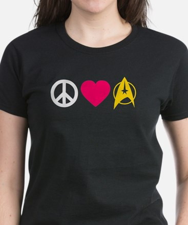 Peace Love Trek Women's Dark T-Shirt