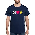 Peace Love Trek Dark T-Shirt