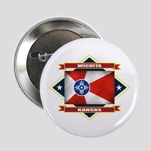 "Wichita Flag 2.25"" Button"