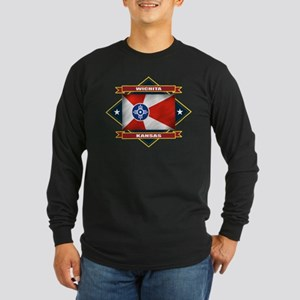 Wichita Flag Long Sleeve Dark T-Shirt