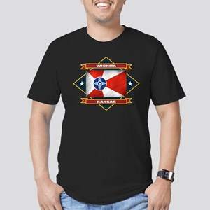 Wichita Flag Men's Fitted T-Shirt (dark)