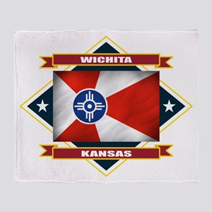Wichita Flag Throw Blanket