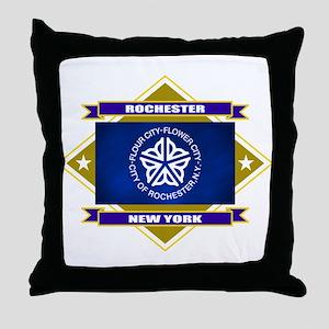 Rochester Flag Throw Pillow