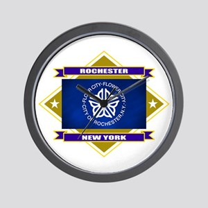 Rochester Flag Wall Clock