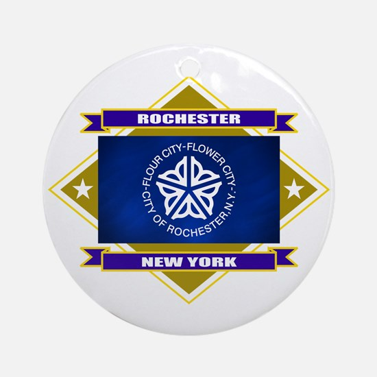 Rochester Flag Ornament (Round)