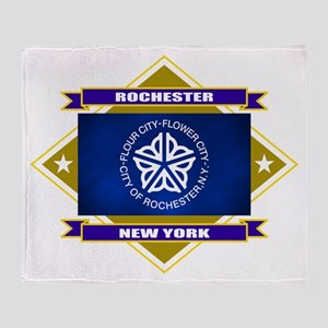 Rochester Flag Throw Blanket